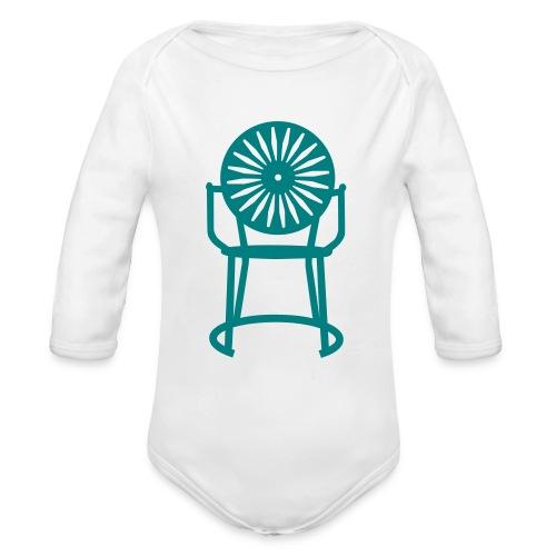 Solo Chair   Teal - Organic Long Sleeve Baby Bodysuit