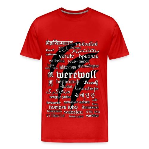 Werewolf in 33 Languages - Men's Premium T-shirt - Men's Premium T-Shirt