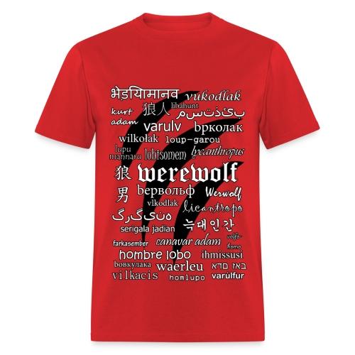 Werewolf in 33 Languages - Men's T-shirt - Men's T-Shirt