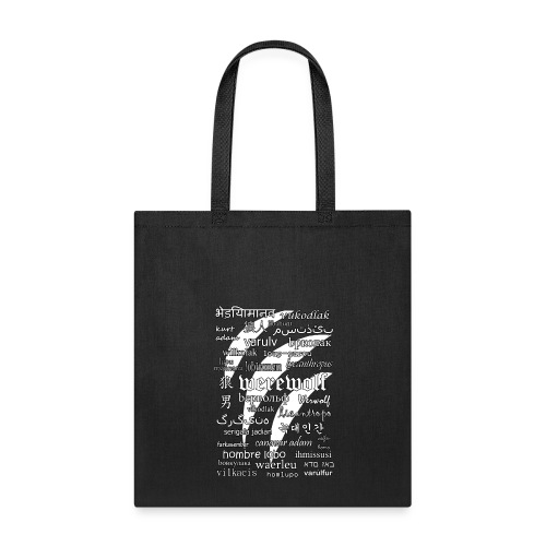Werewolf in 33 Languages - Tote Bag (Black Version) - Tote Bag