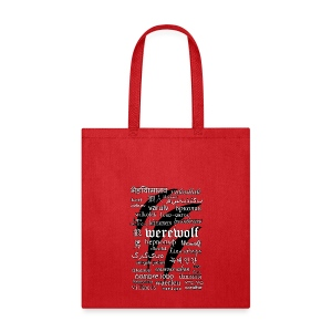 Werewolf in 33 Languages - Tote Bag - Tote Bag