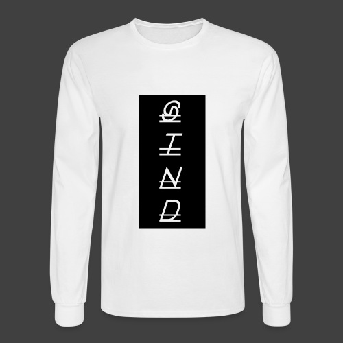 Verso (Negative) - Men's Long Sleeve T-Shirt