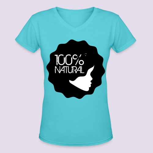 Aqua Natural Girl Tee - Women's V-Neck T-Shirt