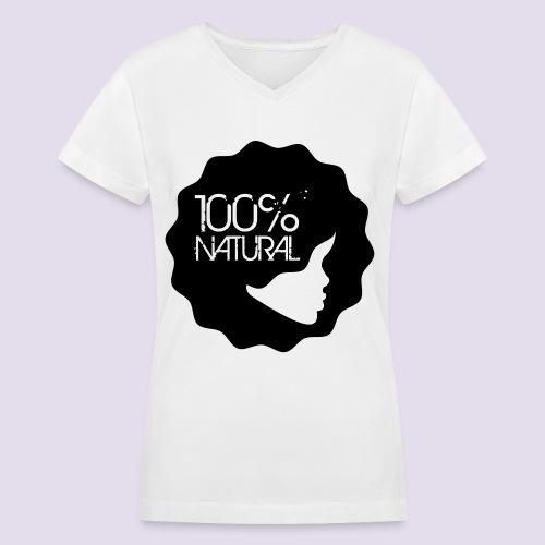 White Natural Girl Tee - Women's V-Neck T-Shirt