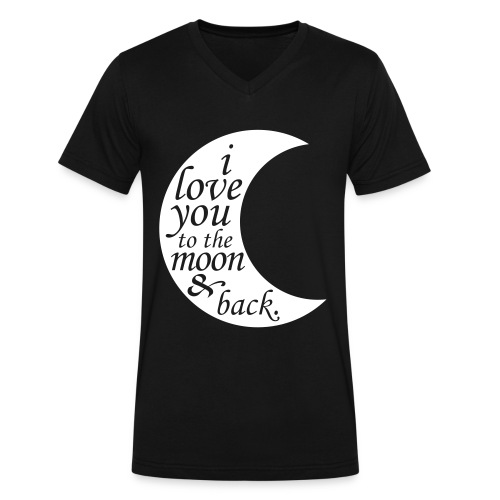 I Love You To The Moon & Back  - Men's V-Neck T-Shirt by Canvas