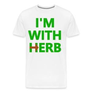 I'm with Herb - Men's Premium T-Shirt