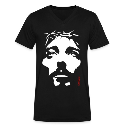 PASSION of CHRIST Classic V - Men's V-Neck T-Shirt by Canvas