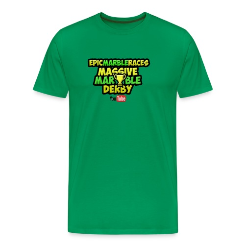 Marble Race Derby - Green - Men's Premium T-Shirt