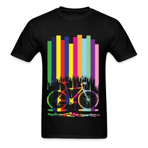 Rainbow bicycle Men's T-Shirt - Men's T-Shirt