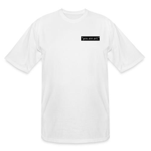 you art art. - Small Box Logo - White T-Shirt - LONG Shirt - Men's Tall T-Shirt
