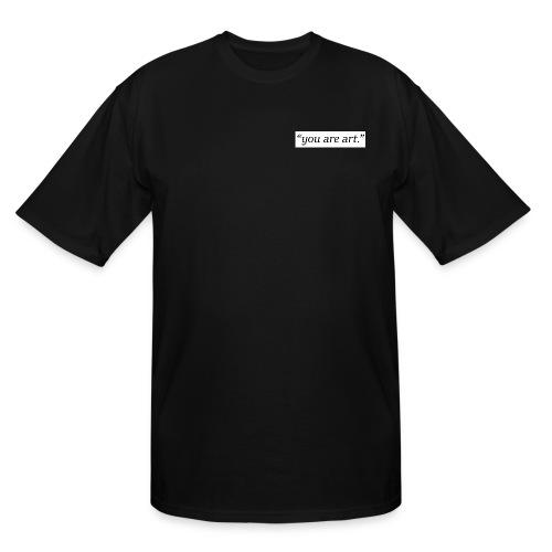 you are art. - Small Box Logo - Black T-Shirt - LONG Shirt - Men's Tall T-Shirt