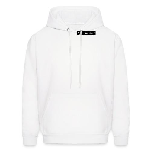you are art. - Small Box Logo - White Hoodie - Men's Hoodie