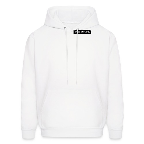 you are art. - Small Box Logo - White Hoodie - Men's Hoodie
