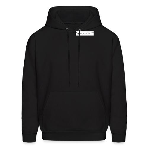 you are art. - Small Box Logo - Black Hoodie - Men's Hoodie