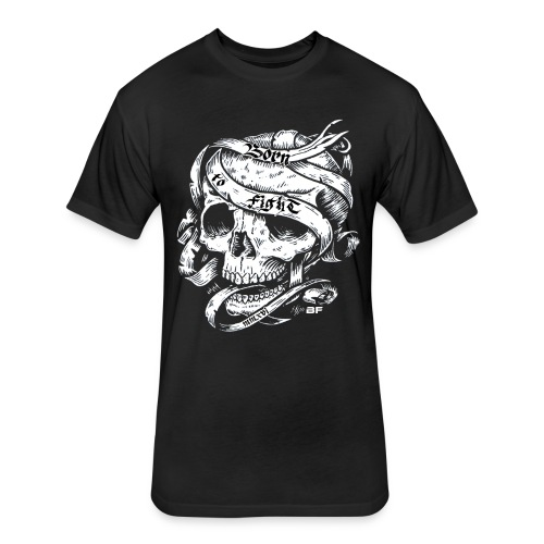 Born2Figfht Skull Tee - Fitted Cotton/Poly T-Shirt by Next Level