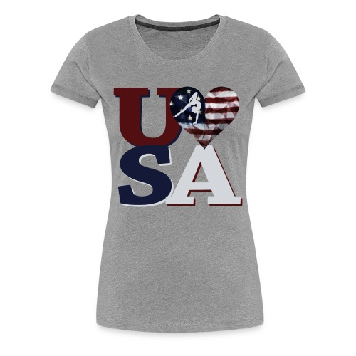Love USA Gymnastics  - Women's Premium T-Shirt
