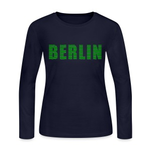 BERLIN lines-font - Women's Long Sleeve Jersey T-Shirt