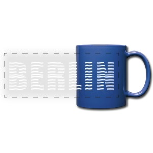 BERLIN lines-font - Full Color Panoramic Mug