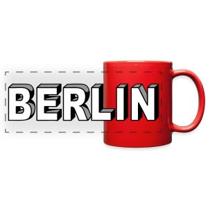 BERLIN block-font - Full Color Panoramic Mug