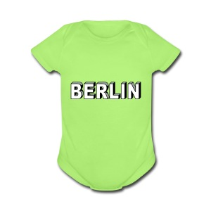 BERLIN block-font - Short Sleeve Baby Bodysuit