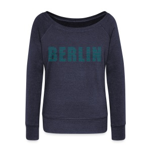 BERLIN lines-font - Women's Wideneck Sweatshirt
