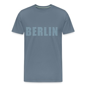 BERLIN lines-font - Men's Premium T-Shirt