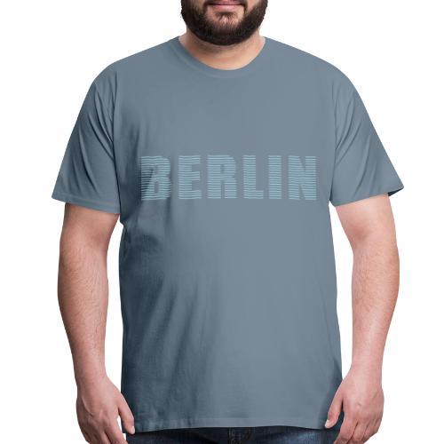 BERLIN lines-font - Men's Premium T-Shirt