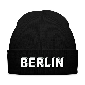 BERLIN block-font - Knit Cap with Cuff Print