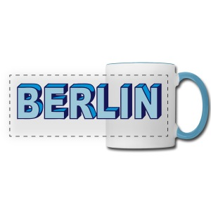 BERLIN block-font - Panoramic Mug