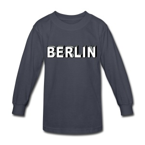 BERLIN block-font - Kids' Long Sleeve T-Shirt
