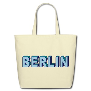 BERLIN block-font - Eco-Friendly Cotton Tote