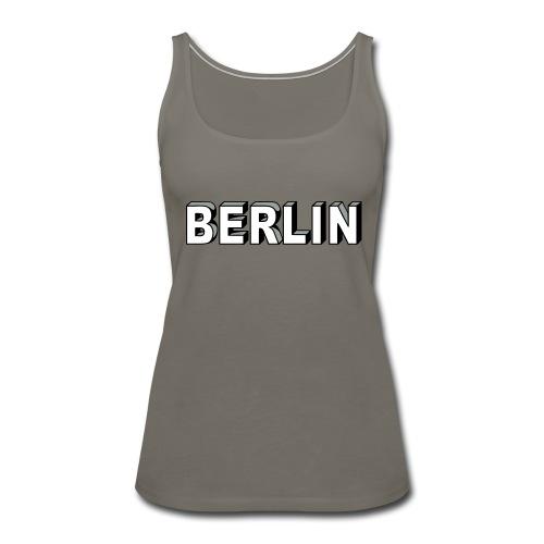 BERLIN block-font - Women's Premium Tank Top