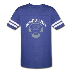 Beard White Large - Vintage Sport T-Shirt