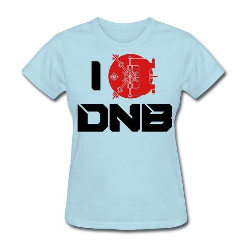 I Love DNB Vault Ladies Baby Blue T - Women's T-Shirt