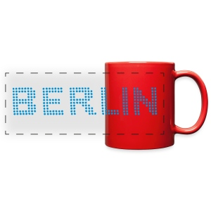 BERLIN dots-font - Full Color Panoramic Mug
