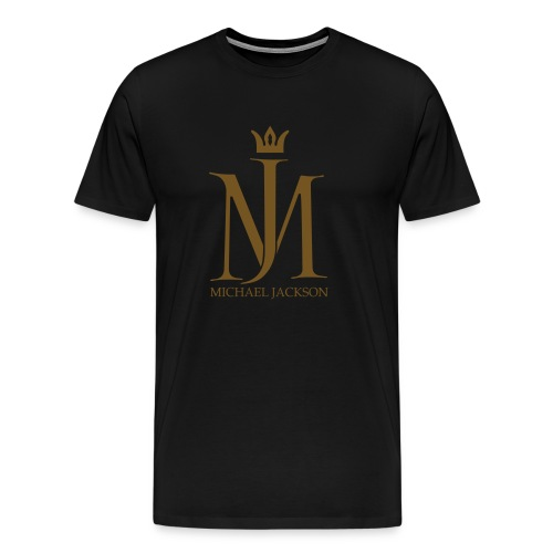 MJ Crown Logo Foil Tee (Black) - Men's Premium T-Shirt