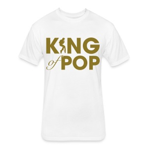 King Of Pop Men's White Tee (Next Level) - Fitted Cotton/Poly T-Shirt by Next Level