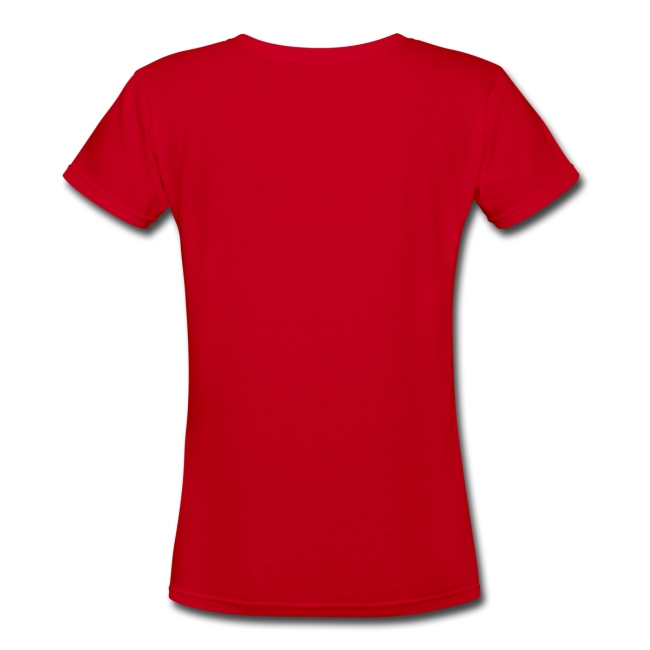 Womens Foil Crown Logo V-Neck Red