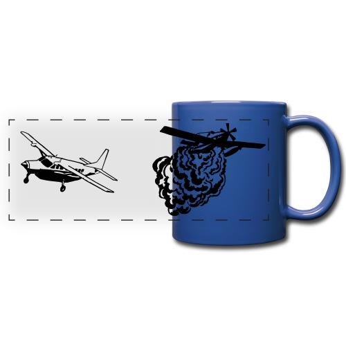 AT802 AMPHIB and Cessna Caravan Bird Dog BLUE MUG - Full Color Panoramic Mug