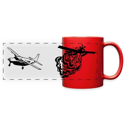 AT802 AMPHIB and Cessna Caravan Bird Dog RED MUG - Full Color Panoramic Mug