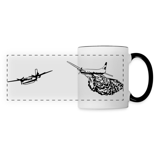 Convair 580 and Turbo Commander Bird Dog WHITE MUG - Panoramic Mug