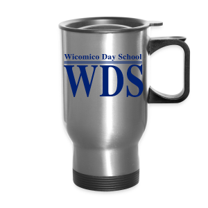 WDS Lines (Navy) - Travel Mug (silver or white) - Travel Mug