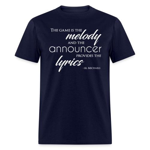 Melody and Lyrics T-Shirt - Men's T-Shirt