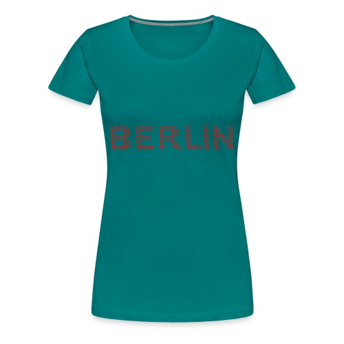 BERLIN dots-font - Women's Premium T-Shirt