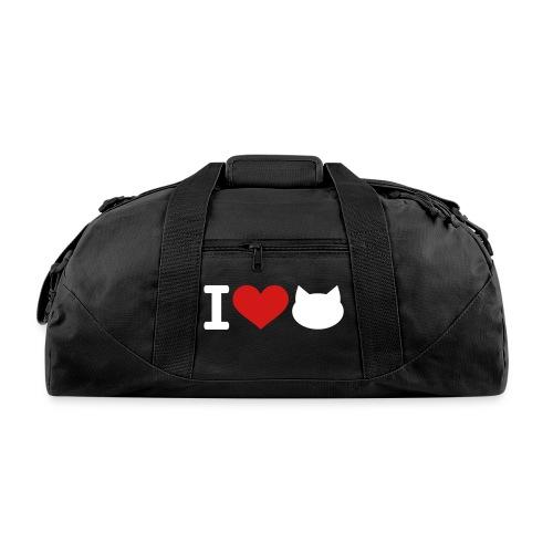 I ♥ CATS - DUFFEL BAG (BLACK) - Duffel Bag