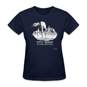 FPV WARS - Drones Strike Back (womens) - Women's T-Shirt