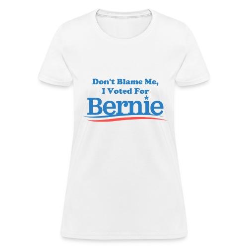 Women's White Don't Blame Me T-shirt - Women's T-Shirt