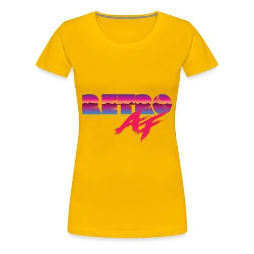 Retro AF Tee - Women's Premium T-Shirt