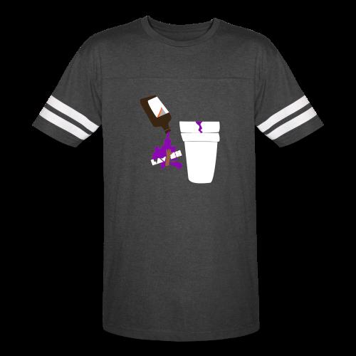 Purp Edition Urban Striped Sleeve Tee (Black) - Vintage Sport T-Shirt