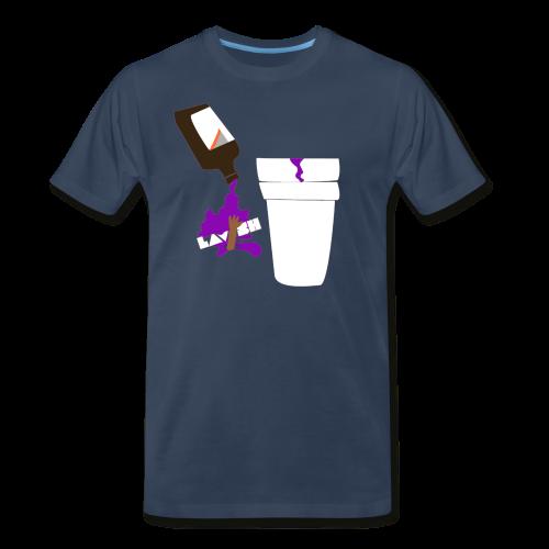 Purp Edition Crew Neck Tee (Navy Blue) - Men's Premium T-Shirt